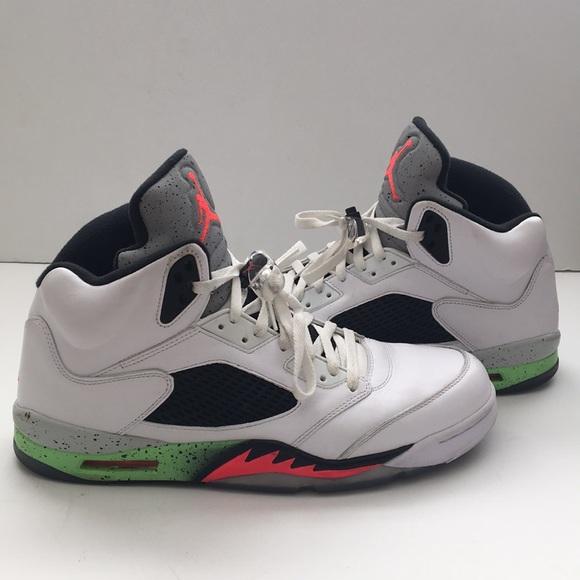 ae4f037fe280 Air Jordan 5 Retro Poison Green - Size 14. M 5bf4680ec89e1d389007b9c6